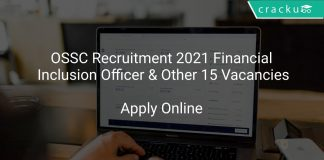 OSSC Recruitment 2021 Financial Inclusion Officer & Other 15 Vacancies