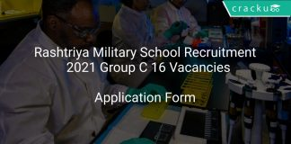 Rashtriya Military School Recruitment 2021 Group C 16 Vacancies