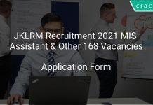 JKLRM Recruitment 2021 MIS Assistant & Other 168 Vacancies