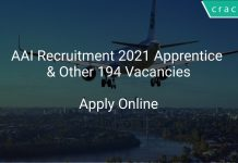 AAI Recruitment 2021 Apprentice & Other 194 Vacancies