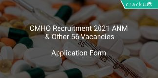 CMHO Recruitment 2021 ANM & Other 56 Vacancies