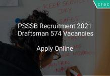 PSSSB Recruitment 2021 Draftsman 574 Vacancies