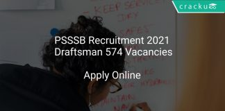 PSSSB Recruitment 2021 Draftsman 574 Vacancies