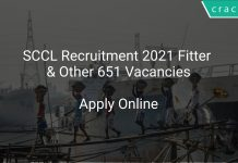 SCCL Recruitment 2021 Fitter & Other 651 Vacancies