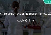 ICMR Recruitment Jr Research Fellow 2021