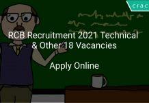 RCB Recruitment 2021 Technical & Other 18 Vacancies