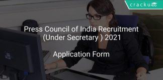 Press Council of India Recruitment (Under Secretary ) 2021