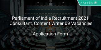 Parliament of India Recruitment 2021 Consultant, Content Writer 09 Vacancies