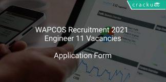 WAPCOS Recruitment 2021 Engineer 11 Vacancies