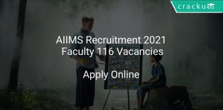AIIMS Recruitment 2021 Faculty 116 Vacancies