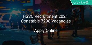 HSSC Recruitment 2021 Constable 7298 Vacancies