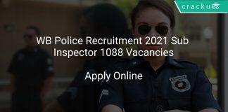 WB Police Recruitment 2021 Sub Inspector 1088 Vacancies