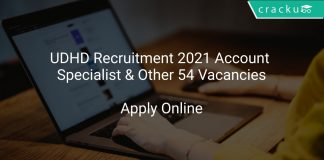 UDHD Recruitment 2021 Account Specialist & Other 54 Vacancies