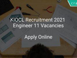 KIOCL Recruitment 2021 Engineer 11 Vacancies