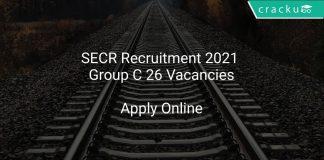 SECR Recruitment 2021 Group C 26 Vacancies