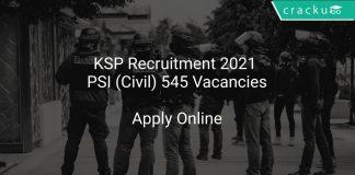 KSP Recruitment 2021 PSI (Civil) 545 Vacancies