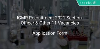 ICMR Recruitment 2021 Section Officer & Other 11 Vacancies