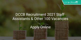 DCCB Recruitment 2021 Staff Assistants & Other 100 Vacancies