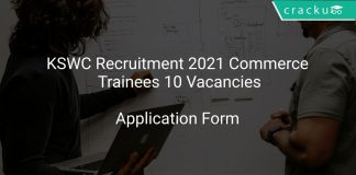 KSWC Recruitment 2021 Commerce Trainees 10 Vacancies
