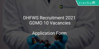 DHFWS Recruitment 2021 GDMO 10 Vacancies
