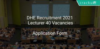 DHE Recruitment 2021 Lecturer 40 Vacancies