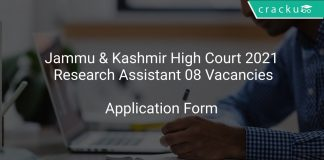 Jammu & Kashmir High Court 2021 Research Assistant 08 Vacancies