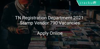 TN Registration Department 2021 Stamp Vendor 790 Vacancies