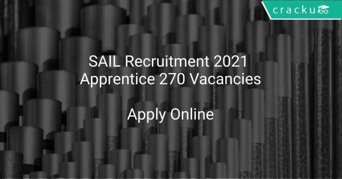 SAIL Recruitment 2021 Apprentice 270 Vacancies