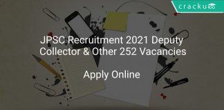 JPSC Recruitment 2021 Deputy Collector & Other 252 Vacancies