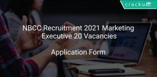 NBCC Recruitment 2021 Marketing Executive 20 Vacancies