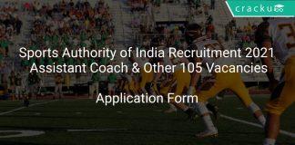 Sports Authority of India Recruitment 2021 Assistant Coach & Other 105 Vacancies