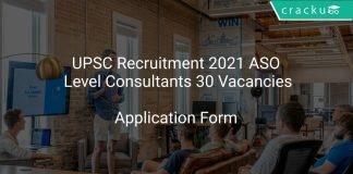 UPSC Recruitment 2021 ASO Level Consultants 30 Vacancies