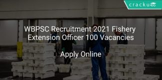 WBPSC Recruitment 2021 Fishery Extension Officer 100 Vacancies