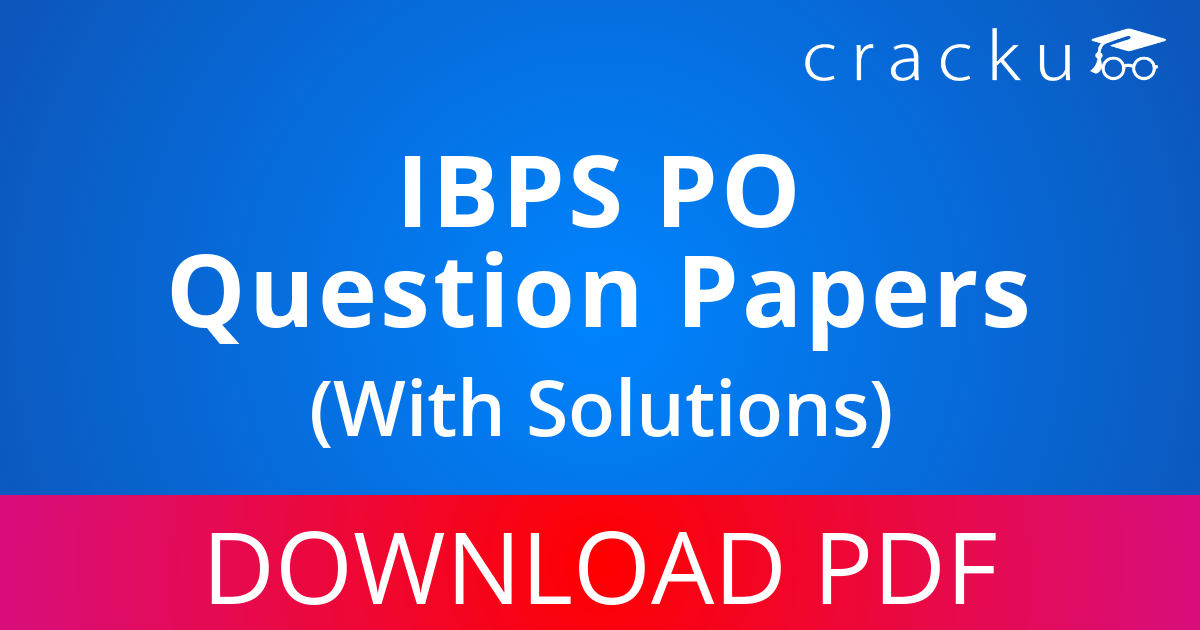 PDF] IBPS PO Previous Year Question Papers Download