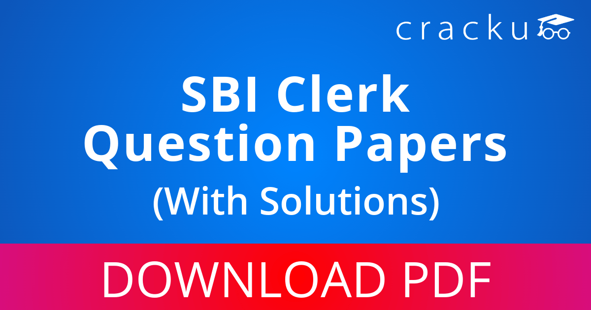 PDF] SBI Clerk Previous Year Question Papers with Solutions Download