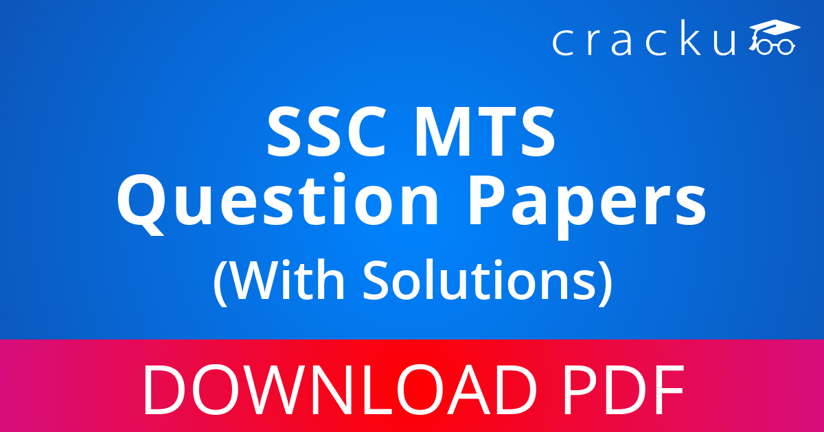 PDF] SSC MTS Previous Year Question Papers With Solutions