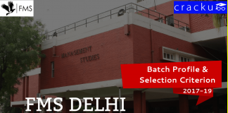 FMS Delhi Batch Profile 2017-19